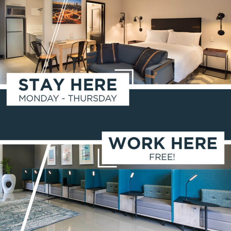 Weeknight Stay = Free Co-working Voucher
